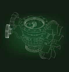 gear mechanism on green vector image