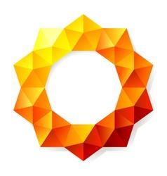 graphic polygon vector image