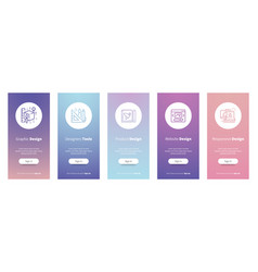 Graphic vertical cards with strong metaphors vector