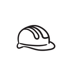Hard hat sketch icon vector