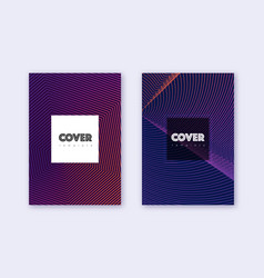 hipster cover design template set violet abstract vector image