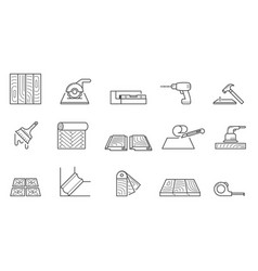 Home repair icons set wallpapering and installing vector