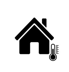 House temperature icon house and termometer icon vector