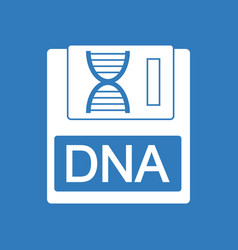 Icon dna disk vector