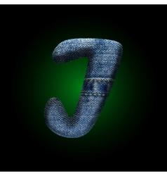 jeans letter vector image