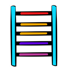 ladder on playground icon icon cartoon vector image