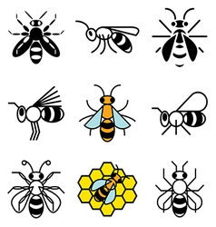 logo icons bee vector image