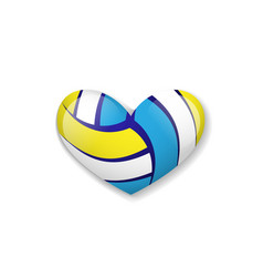 Love volleyball object vector