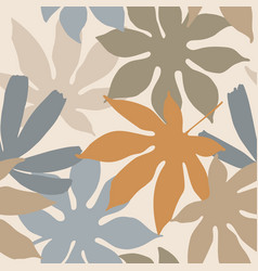 modern floral background in natural colors vector image