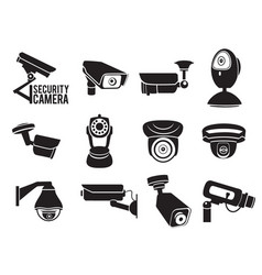 monochrome security video vector image