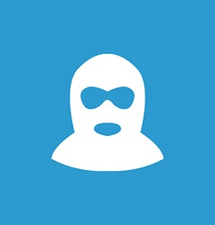 offender icon white on the blue background vector image