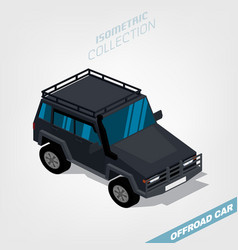 offroad car isometry vector image