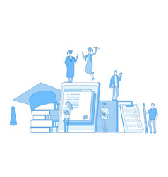 online education concept library culture vector image