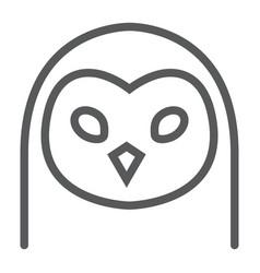 Owl line icon animal and zoo bird sign vector