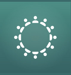 people and users concept in circle management vector image