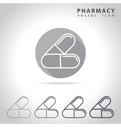 Pharmacy outline icon vector image