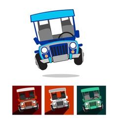 Philippine Jeep vector image