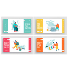 Printing house advertising agency polygraphy vector