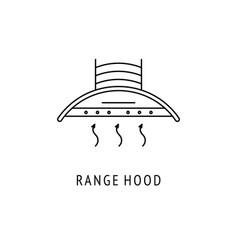 range hood outline icon vector image
