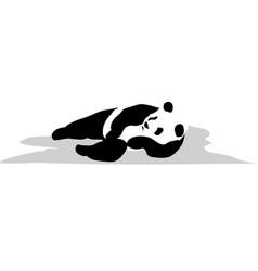 relax panda vector image