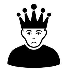 Sad moderator black icon vector