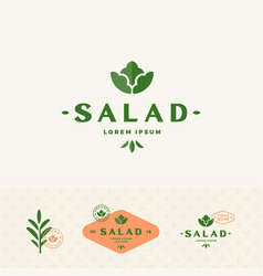 salad lorem boutique abstract sign symbol vector image