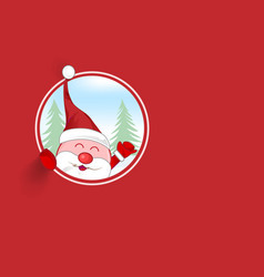 santa claus mascot cartoon background vector image