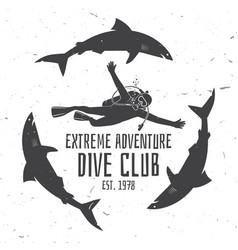 Scuba diving club vector