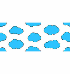 seamless pattern with cloud vector image