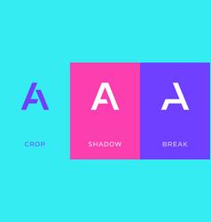 Set letter a minimal logo icon design template vector