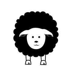 Sheep animal farm icon graphic vector
