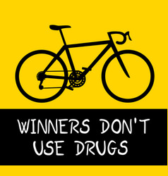 Sport no drug vector