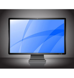 Stylish lcd monitor vector