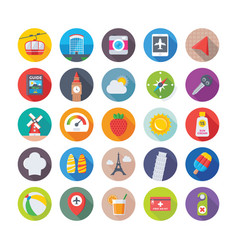 Summer and travel icons 5 vector