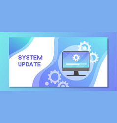 System software update and upgrade banner loading vector