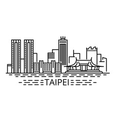 Taipei concept background outline style vector