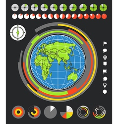 The Earth and infographic elements vector