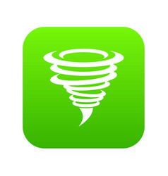 tornado icon digital green vector image