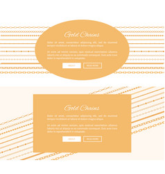 two gold chain posters color vector image