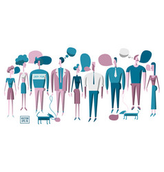 various people men and women vector image