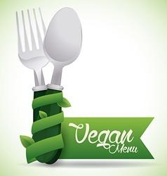 Vegan food design vector image