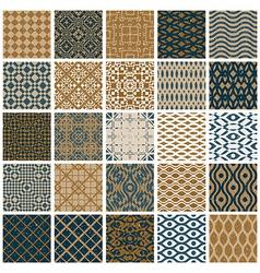 vintage tiles seamless patterns vector image