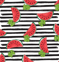 Water Melon Seamless Pattern Striped vector image
