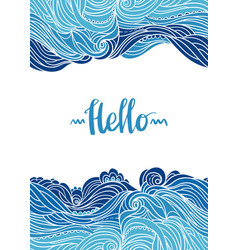 waves flyer templates white back-01 vector image