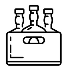 whiskey bottle box icon outline style vector image