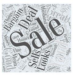 Yard sales Word Cloud Concept vector
