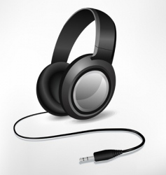 headphones illustration vector image