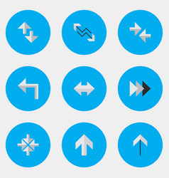 set of simple indicator icons elements inside vector image