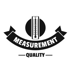thermometer logo simple black style vector image