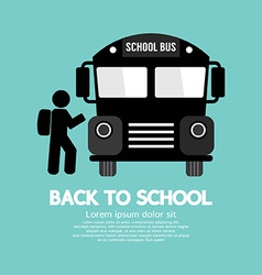 Back To School Graphic Symbol vector image vector image